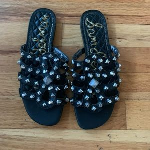 Sam Edelman Black Studded Sandals